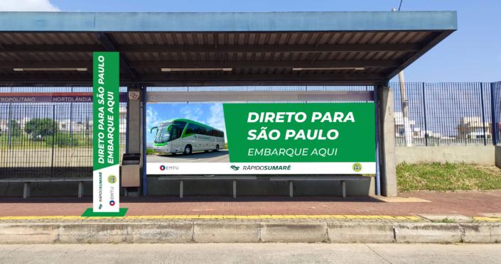 Banner no Ponto de Embarque